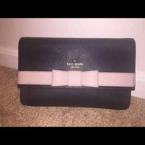 Kate Spade Black and Blush Shoulder/Clutch bag.